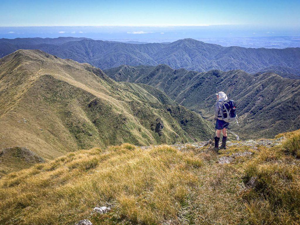 Descending Thompson in the Tararua Range
