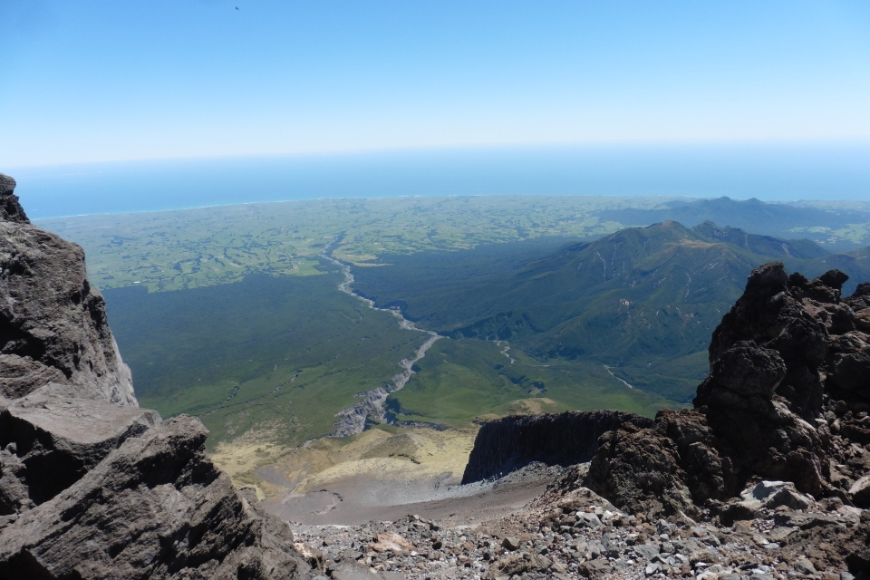 View from top of Mt Taranaki