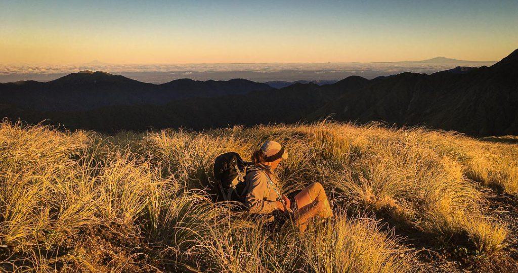 Taranaki and Ruapehu viewed from the Tararua Range