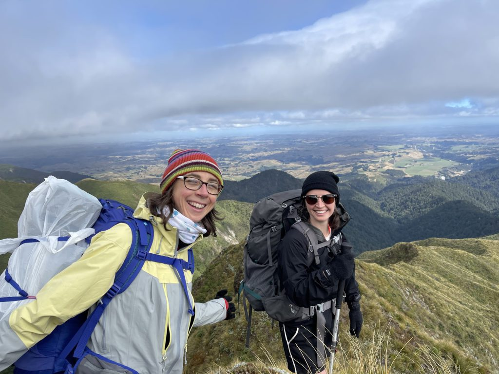 Anna and Jamie enjoying the view up the Tunupō loop