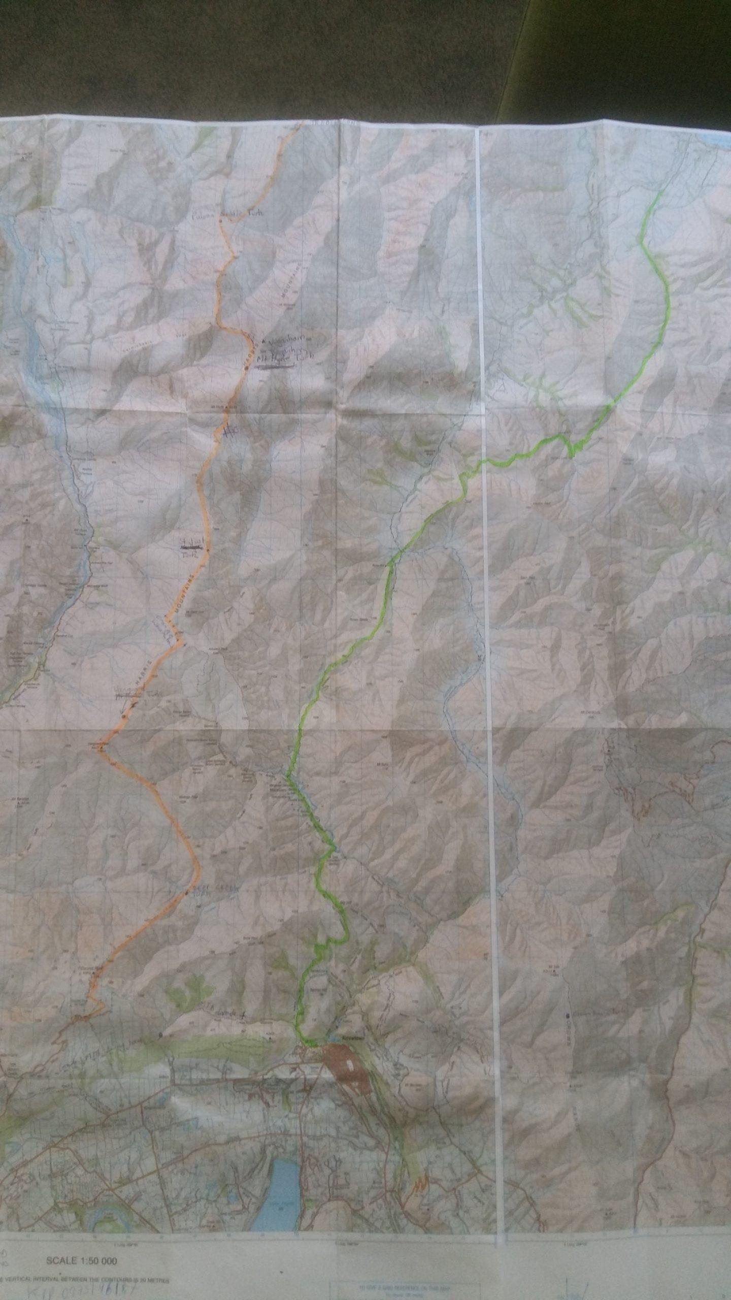 Turk Traverse map