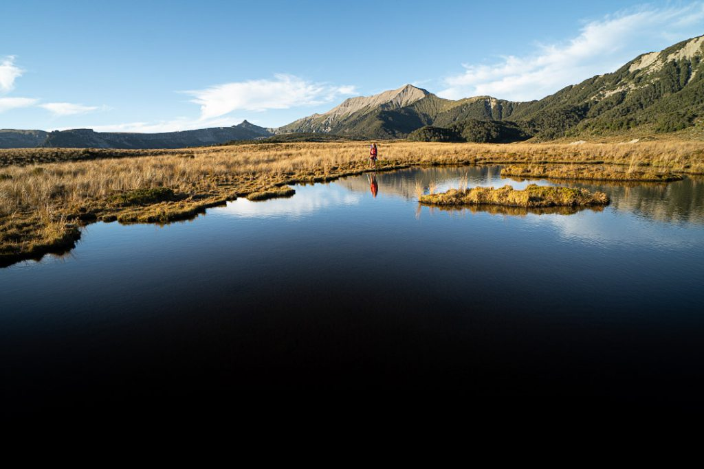 Tarn on the 1000 Acre Plateau. The Needle and The Haystack behind.