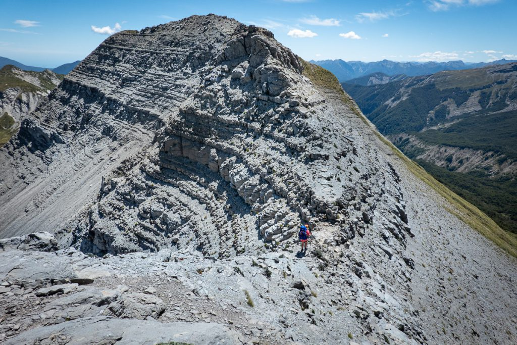 Sarah on the Haystack ridge