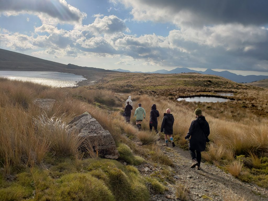 Tramping through tussock and lakes