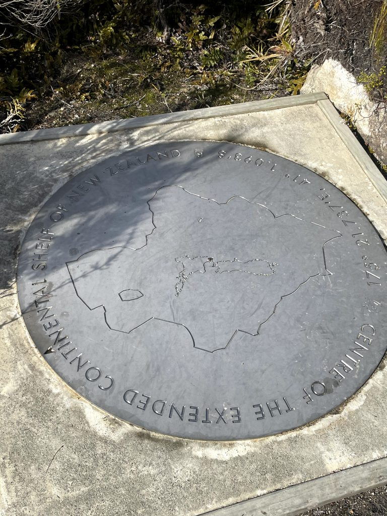 Plaque at the centre of NZ