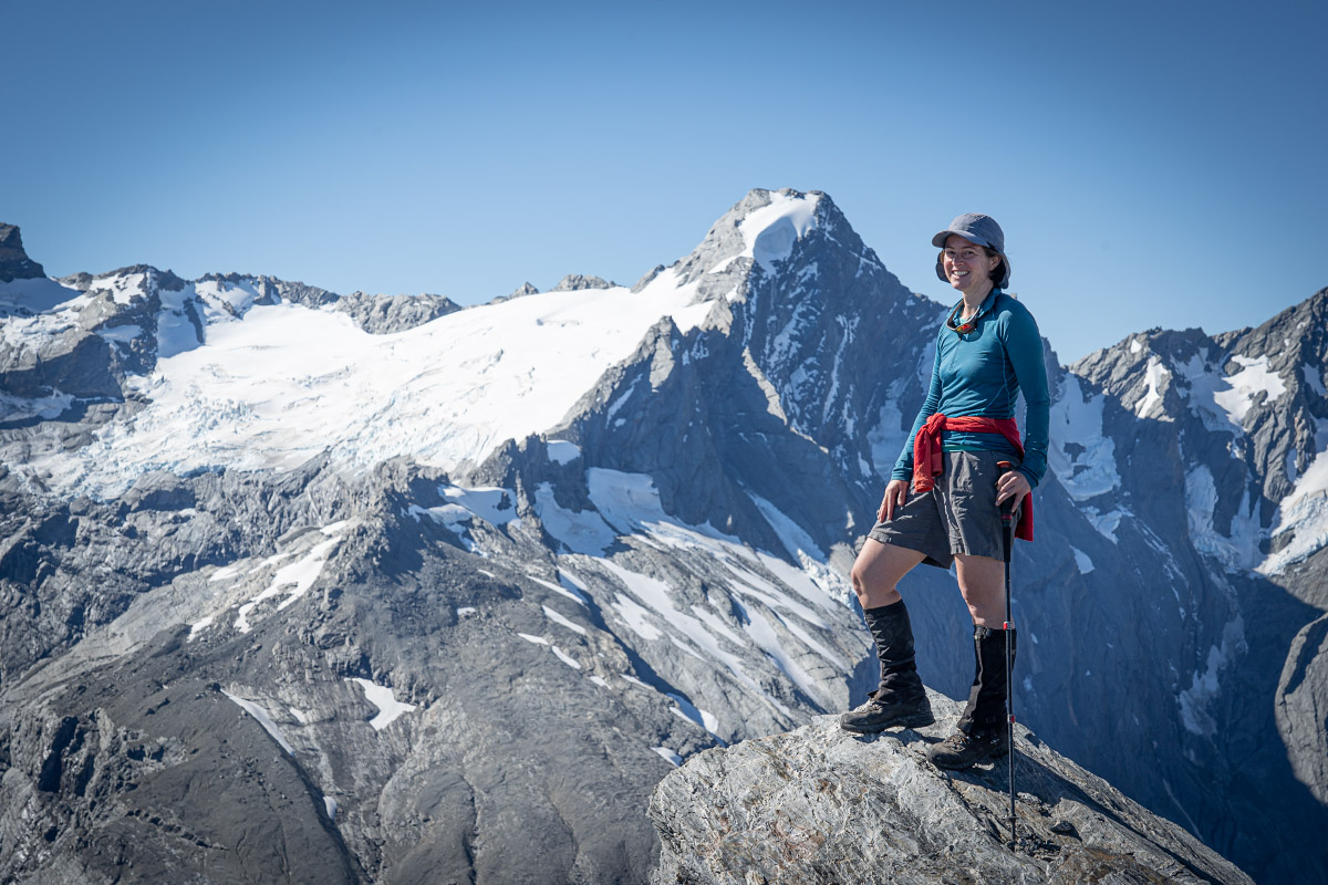 Emily on the Summit of The Gladiator