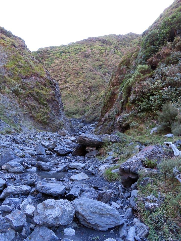 Boulder-y stream bed