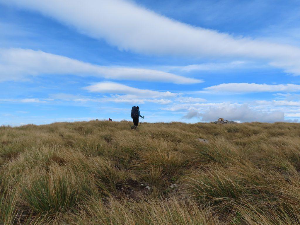 Tramper on a hill