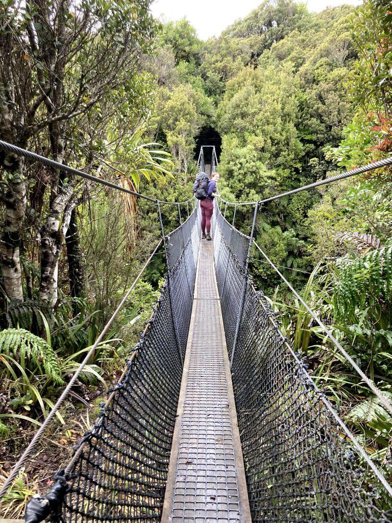 Tramper on swingbridge