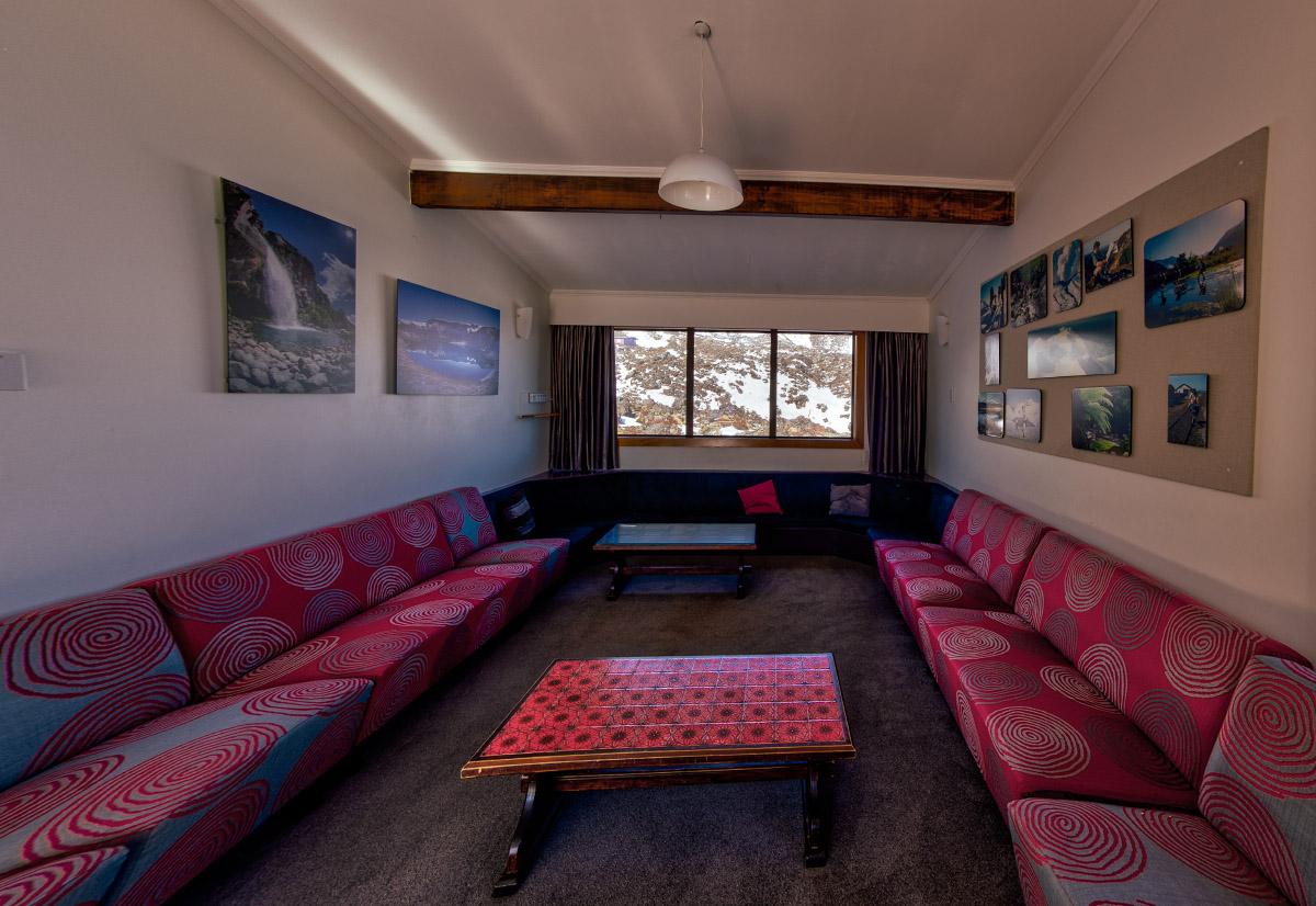 Lounge Area of WTMC Ruapehu Lodge