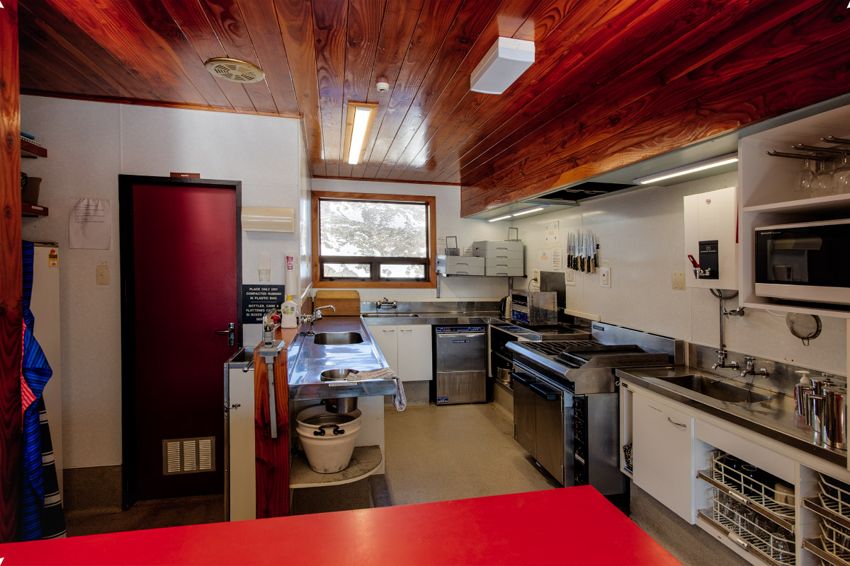 Kitchen Area of WTMC Ruapehu Lodge