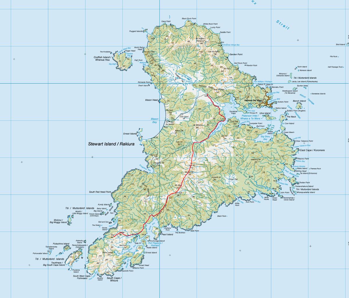 Gogs Rakiura Route Map
