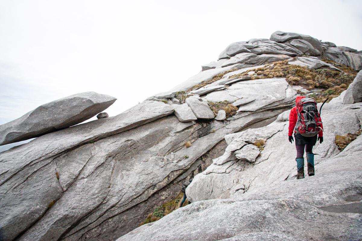 Weathered granite rocks on Magog