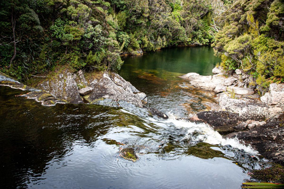 Stream dropping over Belltopper Falls