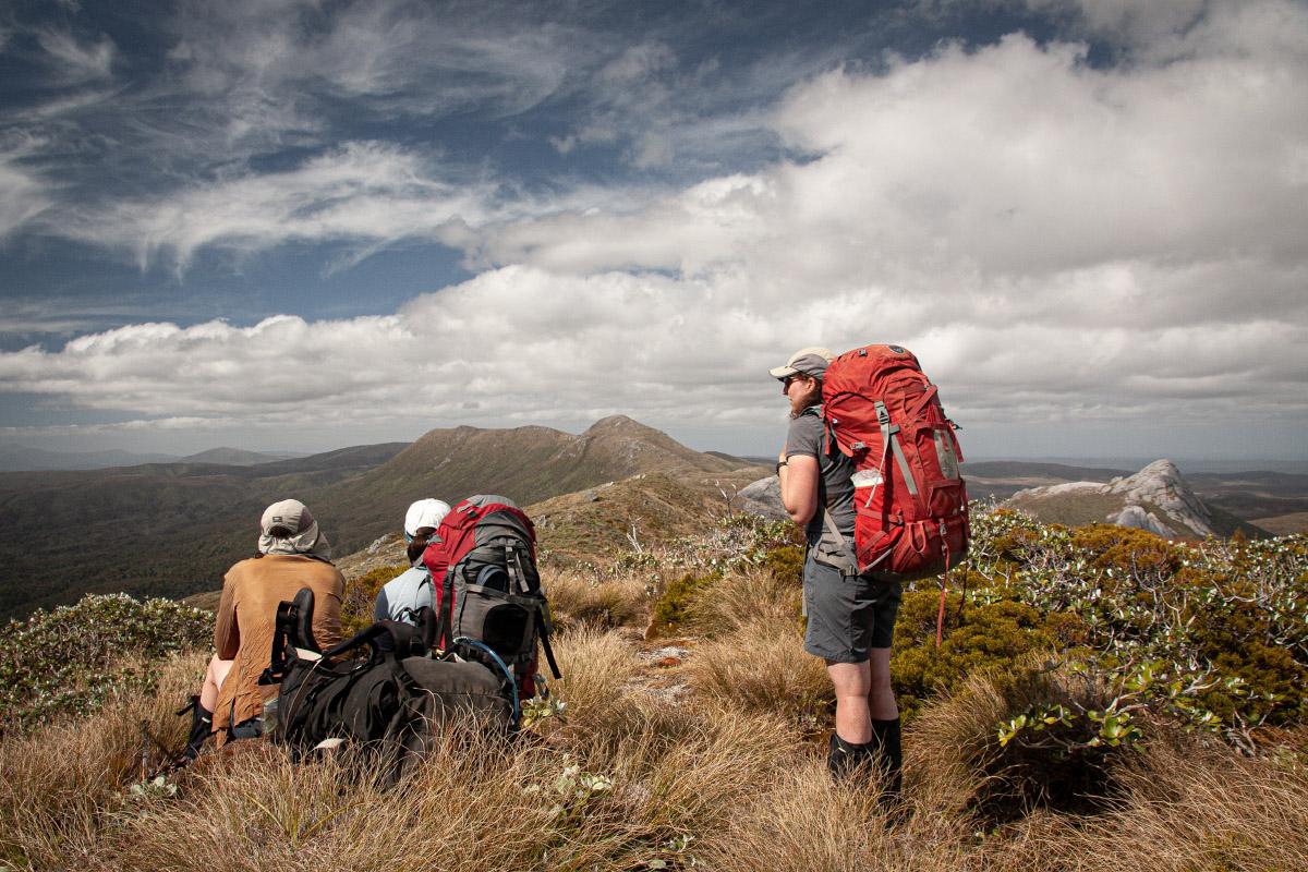 A rare fine day on the Tin Range. Mt Allen centre.
