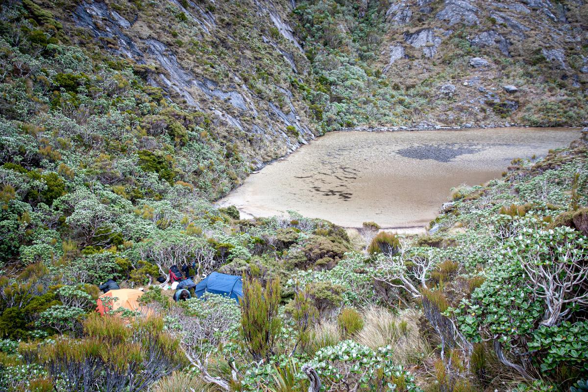 Un-named tarn below Mt Allen
