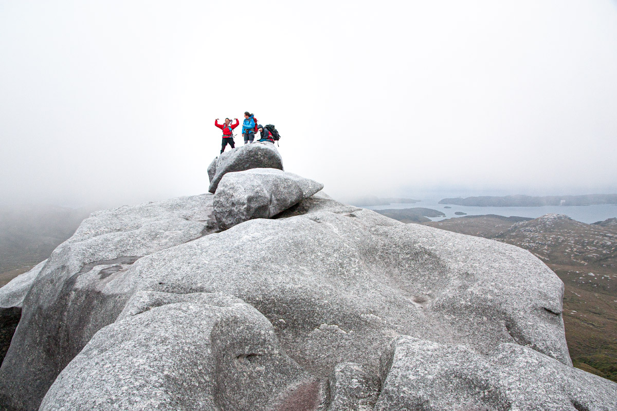 On the summit of Magog - North Arm behind